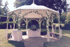 Gazebo Ceremony flowers